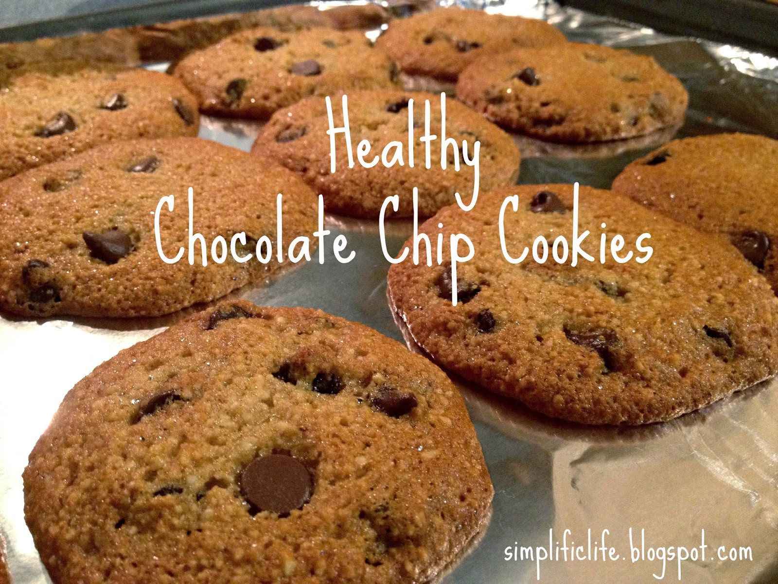 Chocolate Chip Cookies Healthy  The Simple Life Healthy Chocolate Chip Cookies Gluten Free