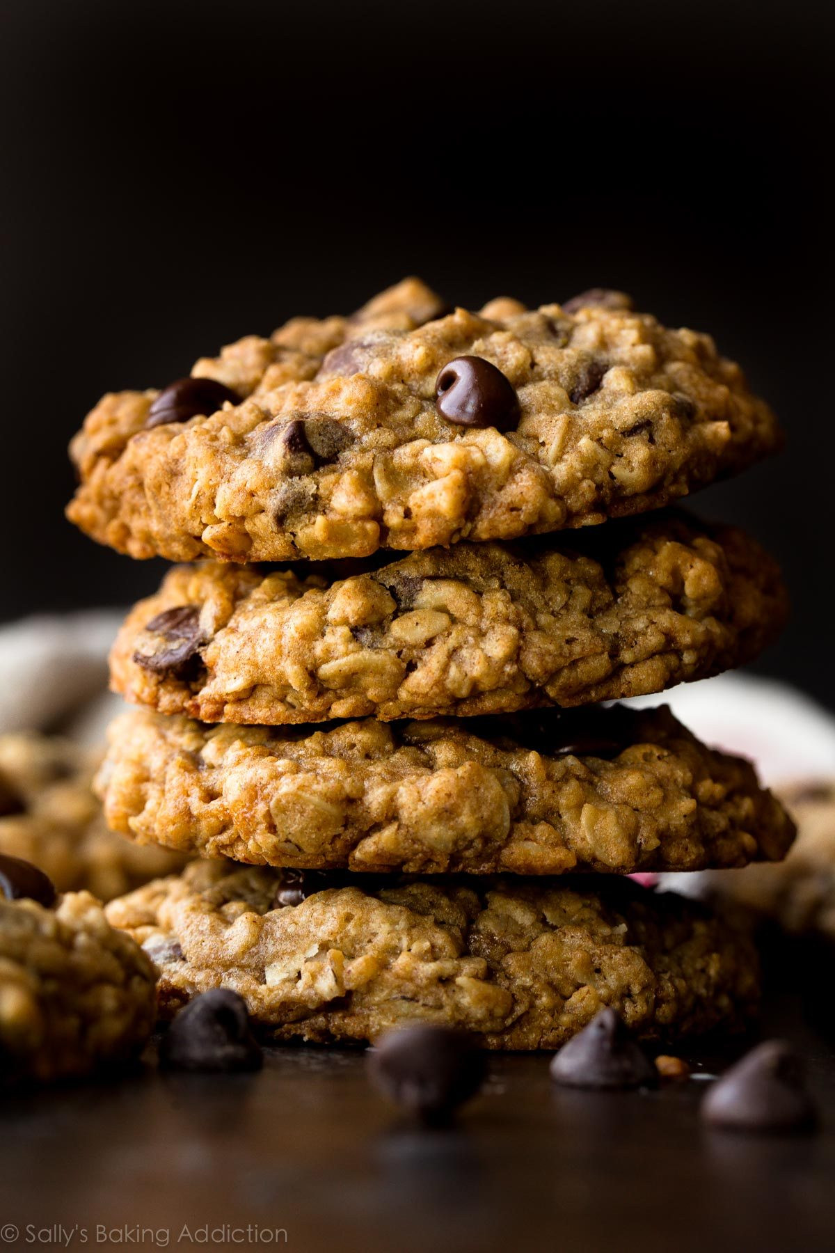 Chocolate Chip Oatmeal Cookies Healthy  easy healthy oatmeal chocolate chip cookie recipe