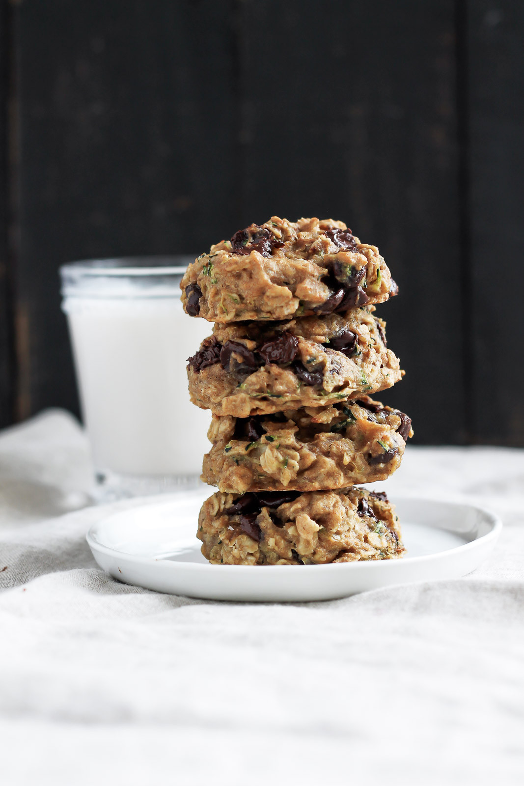 Chocolate Chip Oatmeal Cookies Healthy  Healthy Chocolate Chip Zucchini Oatmeal Cookies