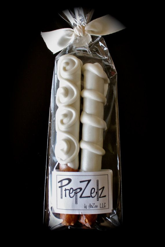 Chocolate Covered Pretzels Wedding Favors  Wedding Mini Chocolate Covered Pretzel Rod Favor 8 by