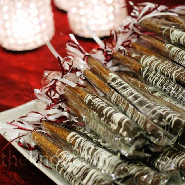 Chocolate Covered Pretzels Wedding Favors  Chocolate Covered Pretzel Favors
