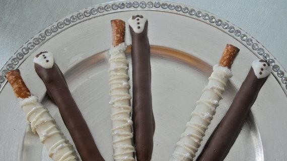 Chocolate Covered Pretzels Wedding Favors  Custom listing for Christina by FrosttheCake on Etsy