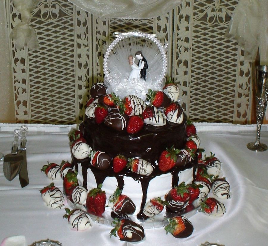 Chocolate Covered Strawberry Wedding Cakes  Chocolate Covered Strawberry Wedding Cake CakeCentral