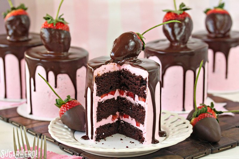 Chocolate Covered Strawberry Wedding Cakes  Chocolate Covered Strawberry Cakes SugarHero