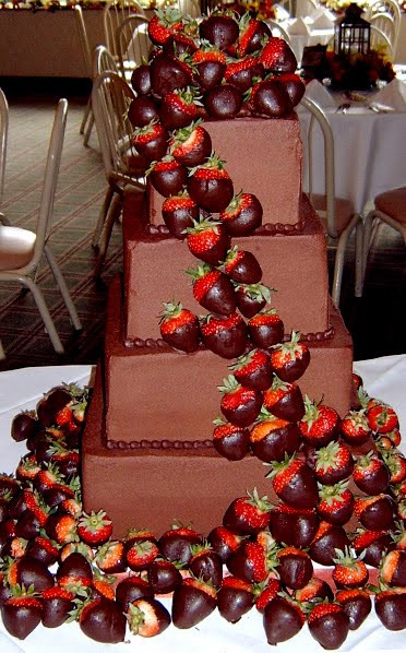 Chocolate Covered Strawberry Wedding Cakes  Wedding Cakes August 2010