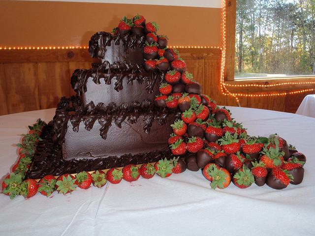Chocolate Covered Strawberry Wedding Cakes  Chocolate Wedding Cakes