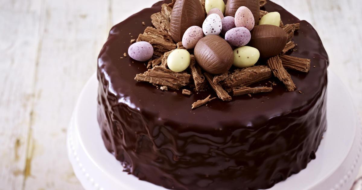 Chocolate Easter Cake  Chocolate Easter cake