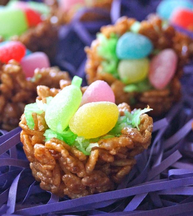 Chocolate Easter Desserts Recipe  Easter Dessert Recipe Chocolate Rice Krispies Treats Nests