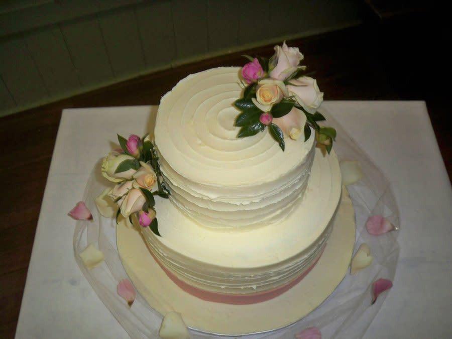 Chocolate Ganache Wedding Cakes  textured white chocolate ganache wedding cake Cake by