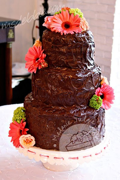 Chocolate Ganache Wedding Cakes  Cake Walk Chocolate Ganache Wedding Cake