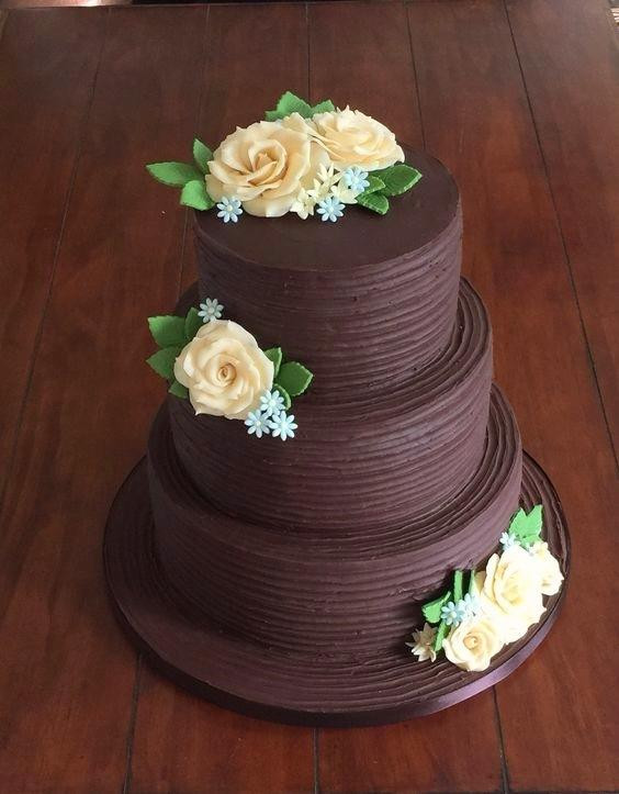 Chocolate Ganache Wedding Cakes  Eat the cake