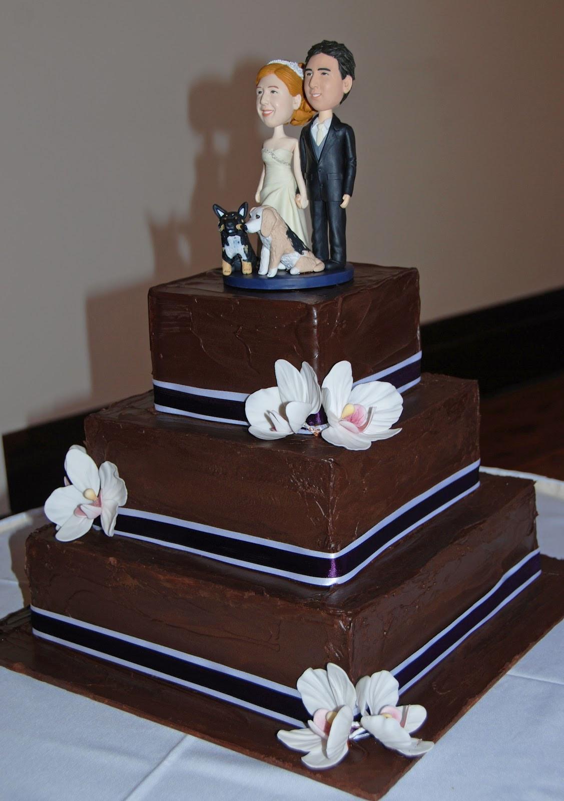 Chocolate Ganache Wedding Cakes  Little Robin Chocolate Ganache Wedding Cake