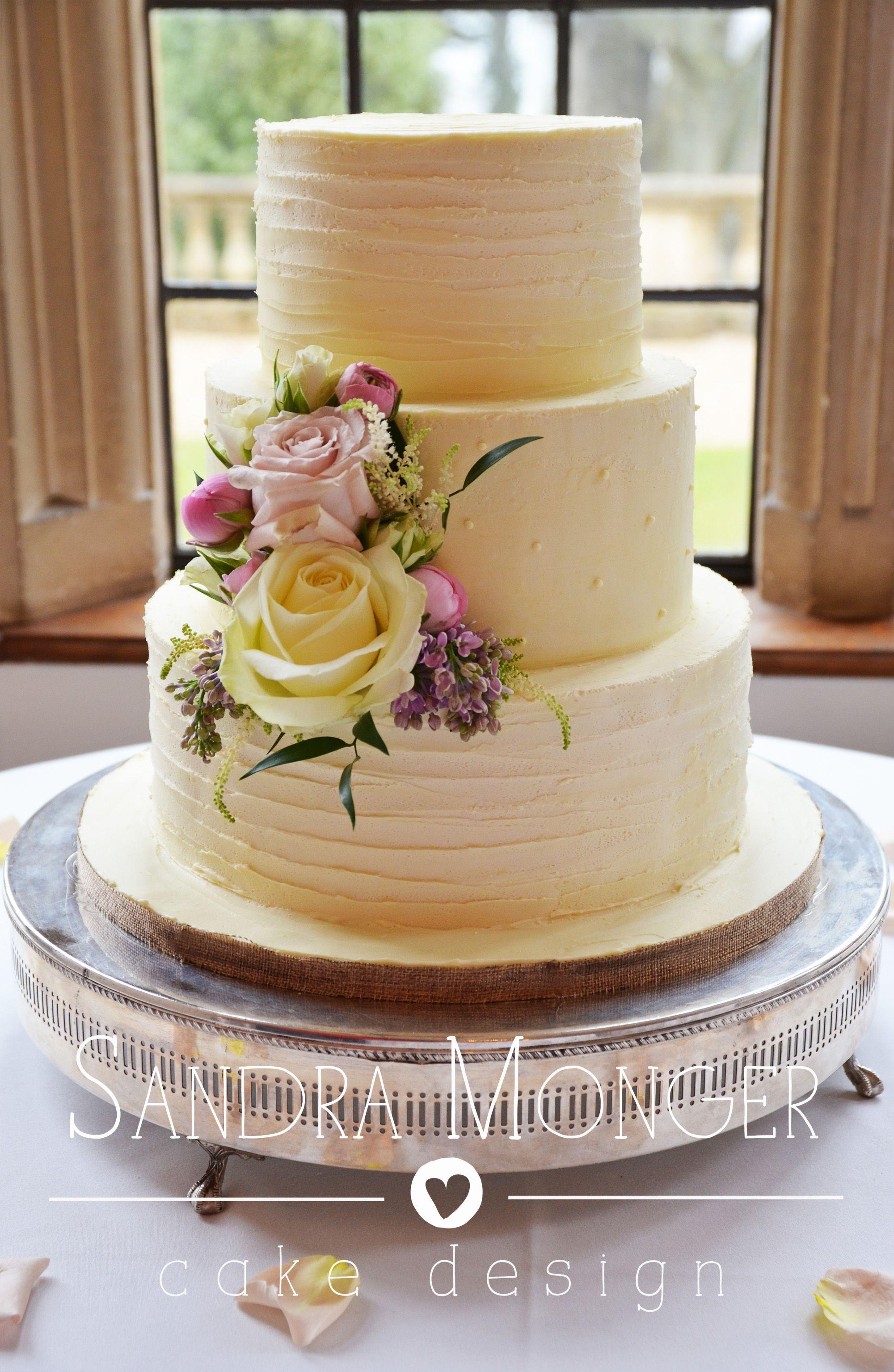 Chocolate Ganache Wedding Cakes  Rustic white chocolate ganache wedding cake