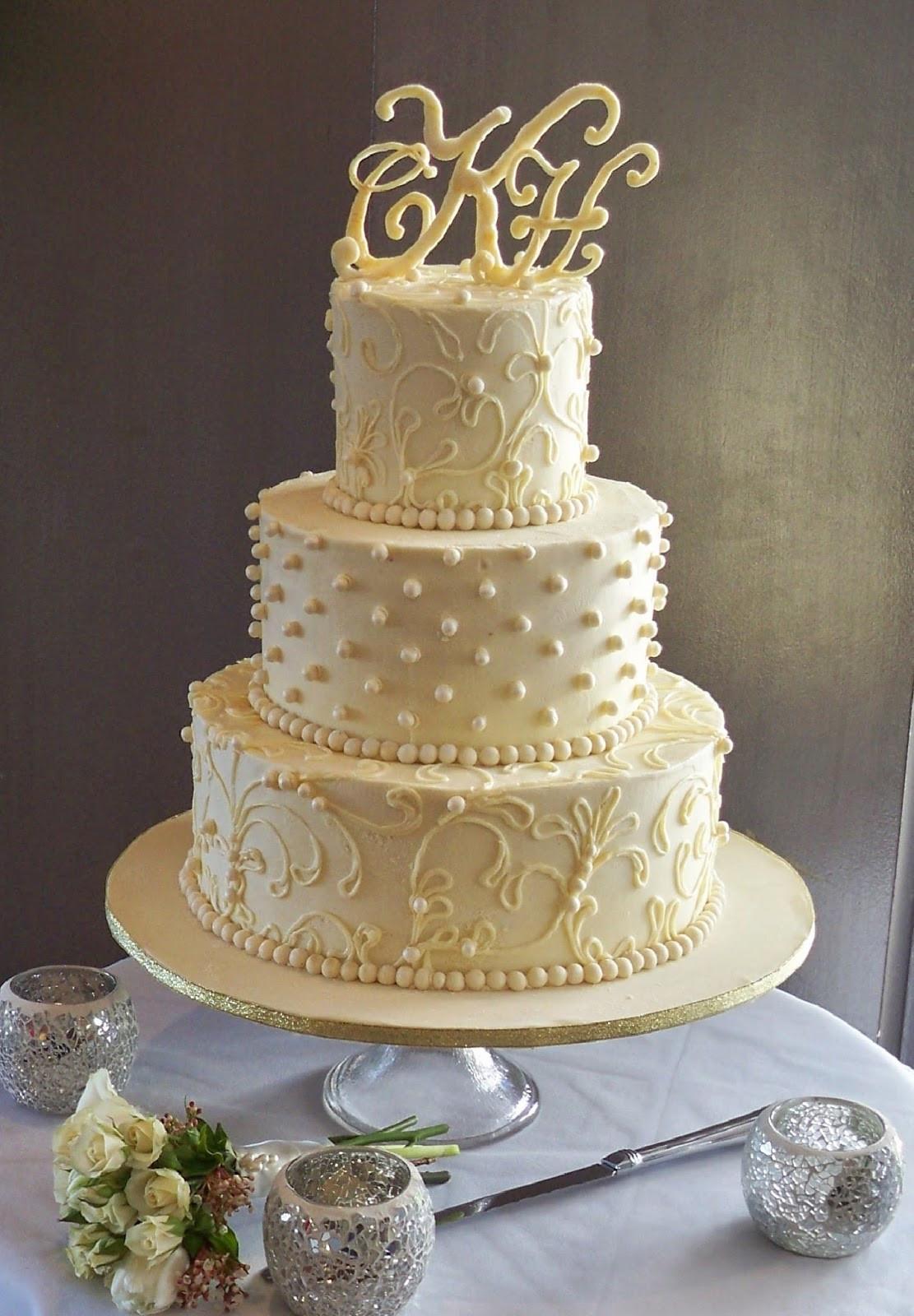 Chocolate Ganache Wedding Cakes  white chocoalte ganache lace wedding cake