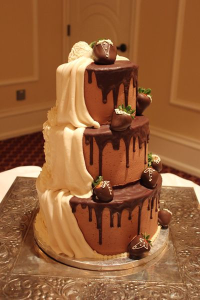 Chocolate Ganache Wedding Cakes  45 best images about Cake Chocolate on Pinterest