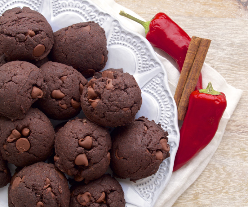 Chocolate Mexican Wedding Cookies  Double Chocolate Mexican Wedding Cookies