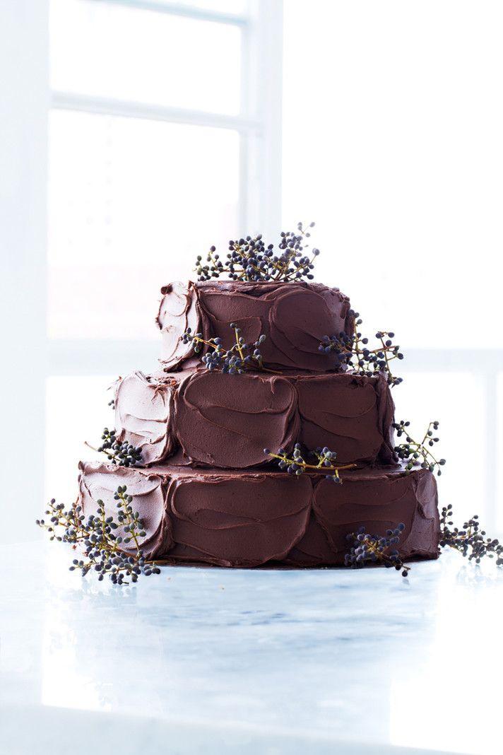 Chocolate Wedding Cakes  Rustic Chocolate Wedding Cakes Rustic Wedding Chic
