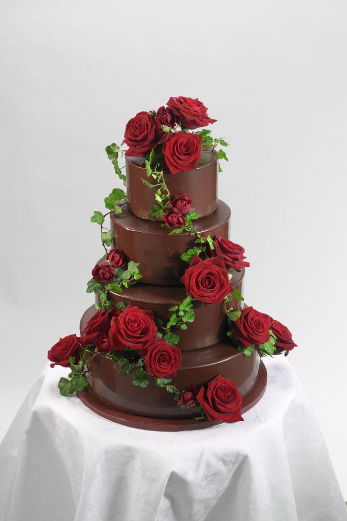 Chocolate Wedding Cakes Pictures  12 chocolate wedding cakes