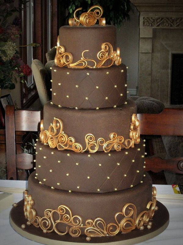 Chocolate Wedding Cakes Pictures  13 Delicious Chocolate Wedding Cakes
