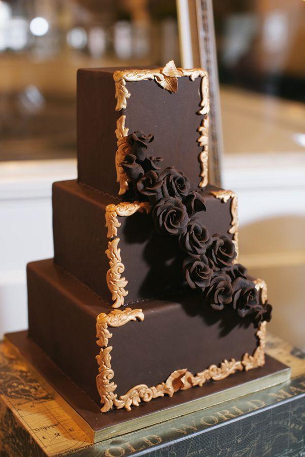 Chocolate Wedding Cakes  20 Decadent and Delicious Chocolate Wedding Cakes Chic
