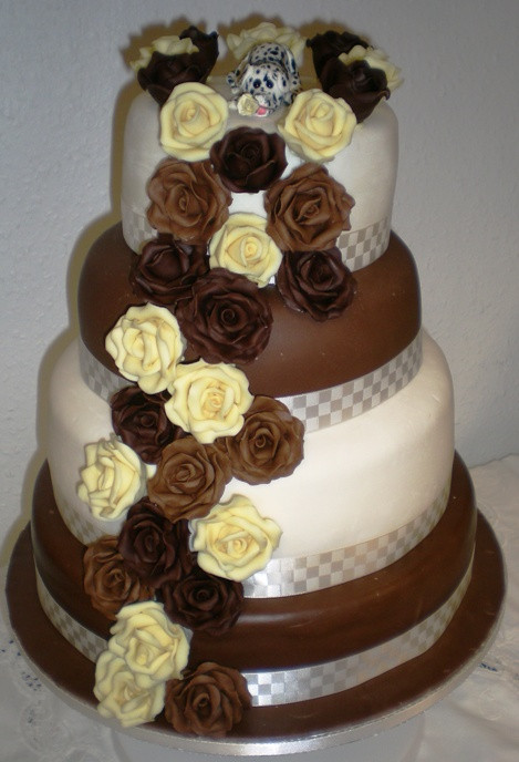 Chocolate Wedding Cakes  Wedding Cake Count Down Designer Chair Covers To Go
