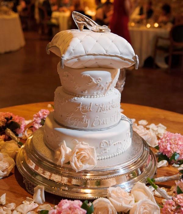 Cinderella Wedding Cakes  Cinderella s Glass Slipper as a Cake Topper This Fairy