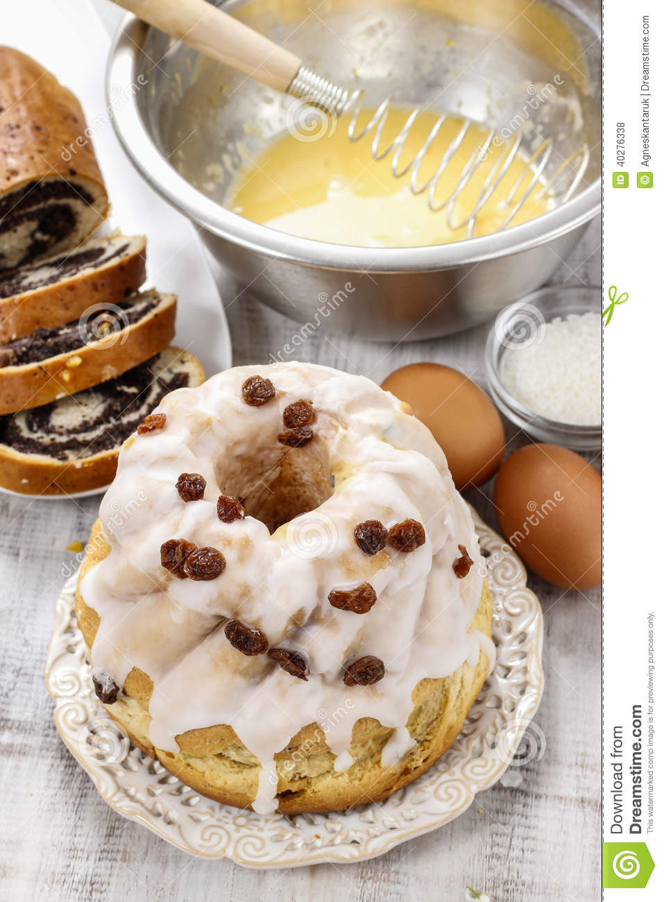 Classic Easter Desserts  Traditional Easter Cake Stock Image