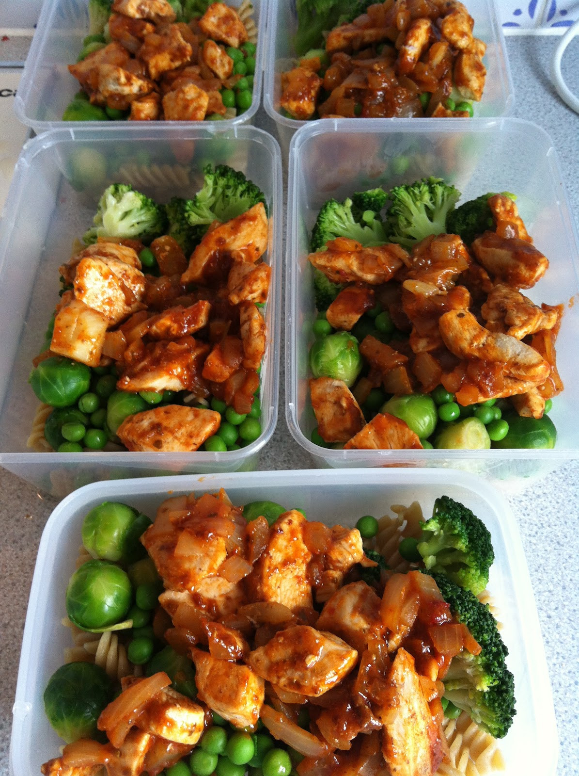 Clean And Healthy Eating  Lotus and Pie Lunches for the week Chicken with Spicey