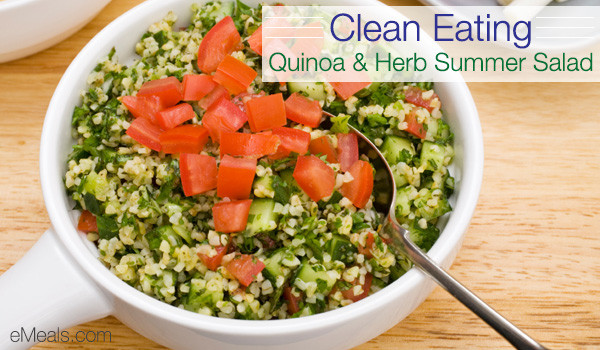 Clean Eating Summer Recipes  Clean Eating Quinoa & Herb Summer Salad