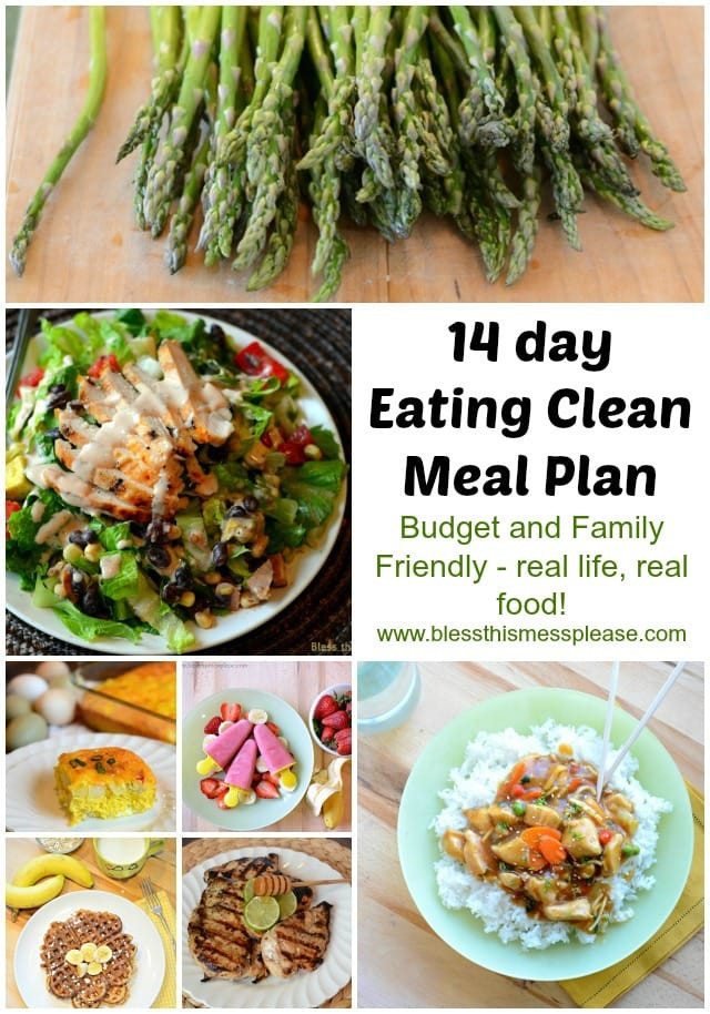 Clean Eating Summer Recipes  Eating Clean Meal Plan Spring Summer Menu Bless This Mess
