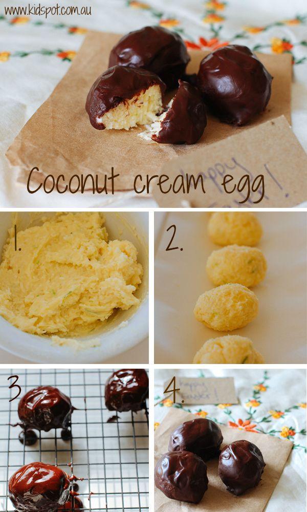 Coconut Cream Easter Egg Recipes  Coconut Cream Eggs Recipe Cupcakes