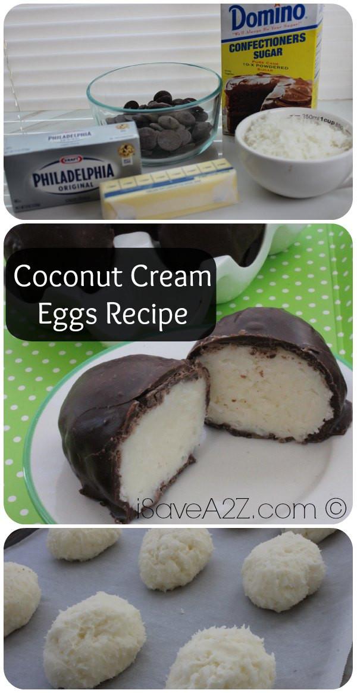 Coconut Cream Easter Egg Recipes  Coconut Cream Eggs Recipe iSaveA2Z