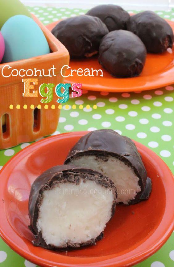 Coconut Cream Easter Eggs Recipes  Chocolate Dipped Coconut Cream Eggs Raining Hot Coupons