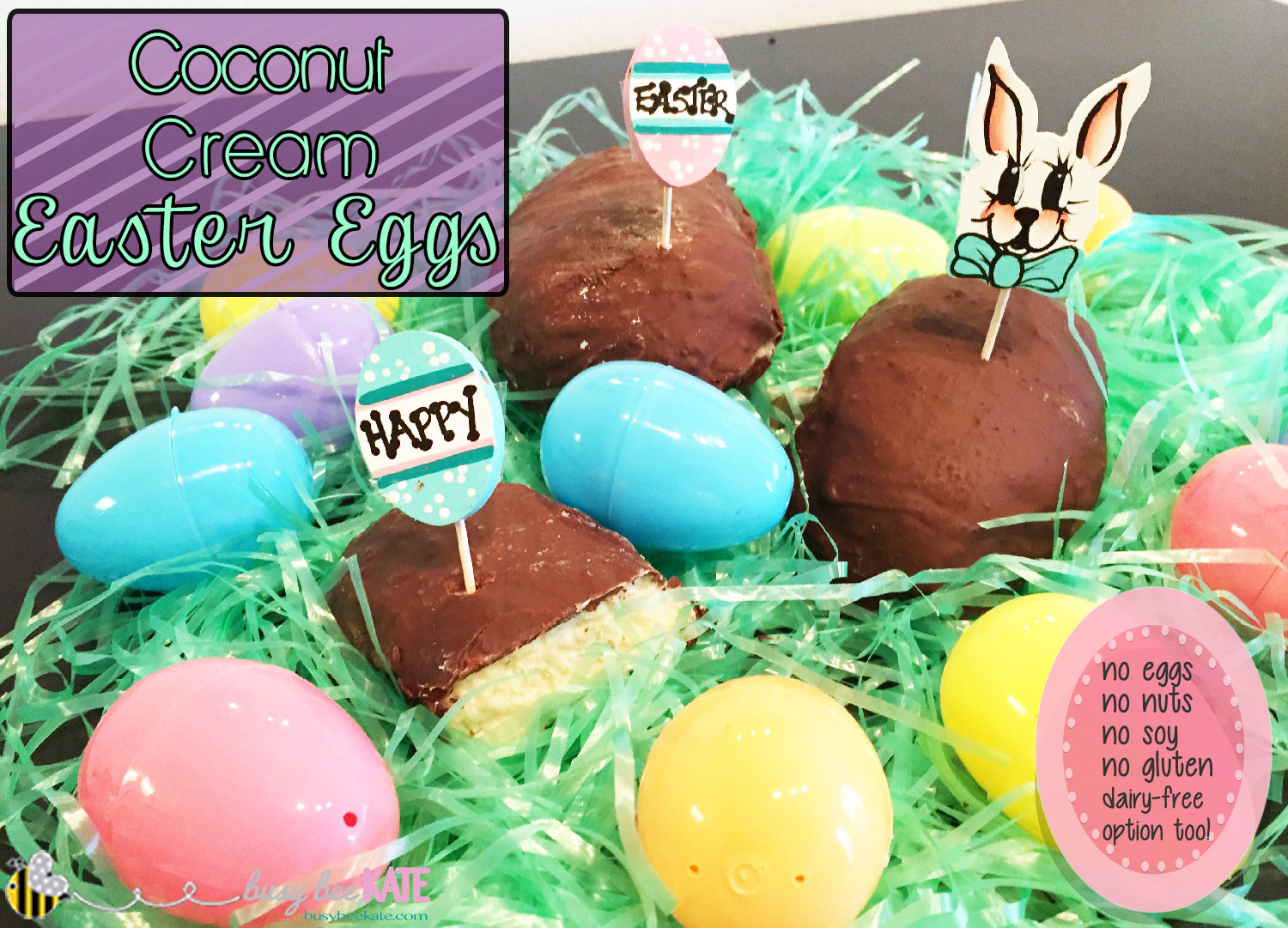 Coconut Cream Easter Eggs Recipes  Coconut Cream Easter Eggs Allergy Friendly – Busy Bee Kate