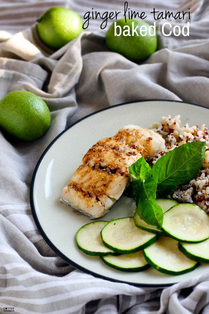 Cod Fish Recipes Healthy  Ginger Lime Tamari Gluten Free Baked Cod Cotter Crunch