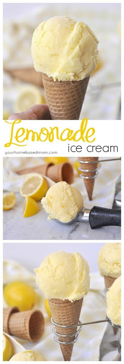 Cold Summer Desserts  Lemonade Ice Cream Recipe