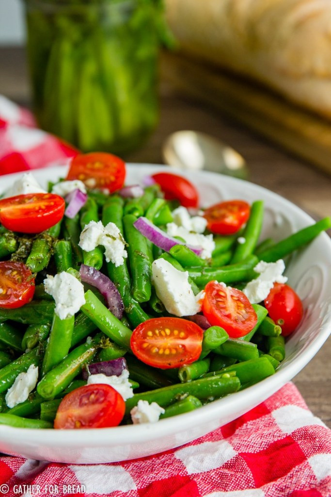 Cold Summer Side Dishes  Cold Green Bean Salad Gather for Bread