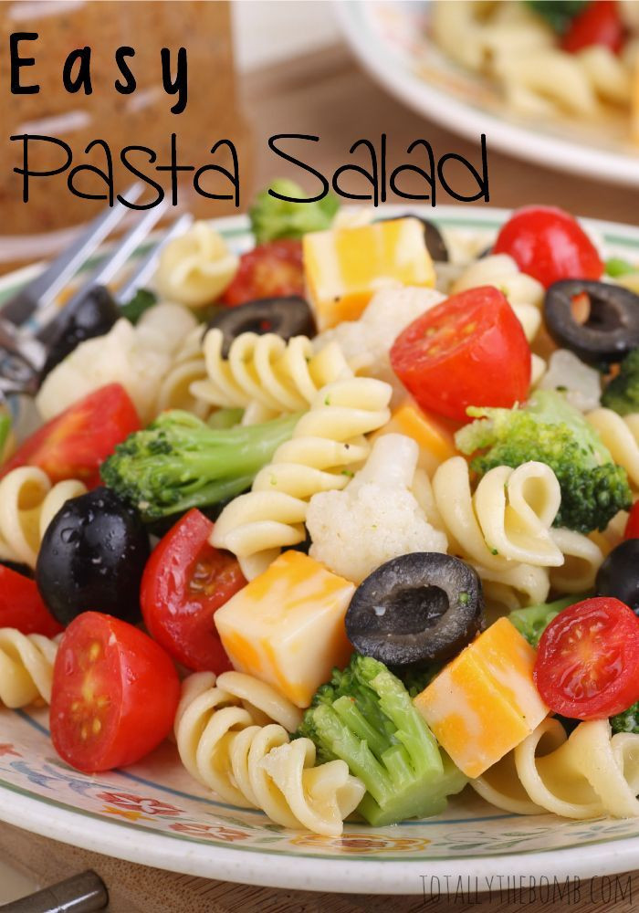 Cold Summer Side Dishes  Easy Pasta Salad