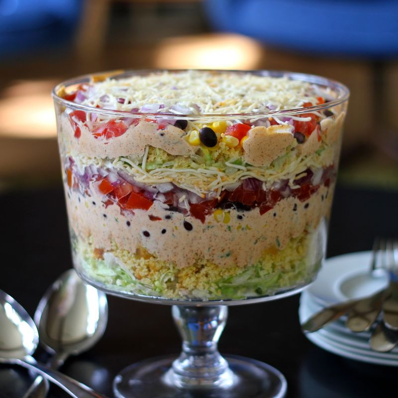 Cold Summer Side Dishes  Layered Cornbread Salad