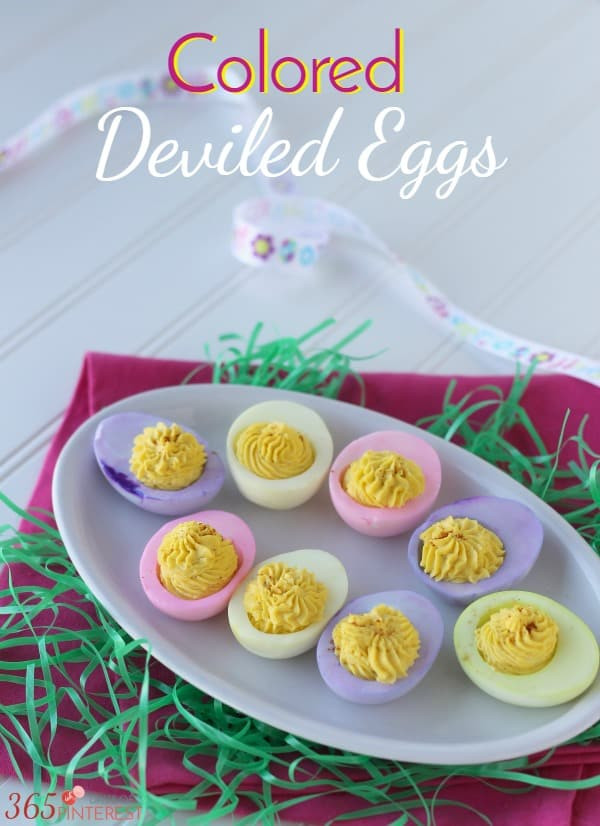 Colored Deviled Eggs For Easter  Colored Deviled Eggs for Easter Simple and Seasonal