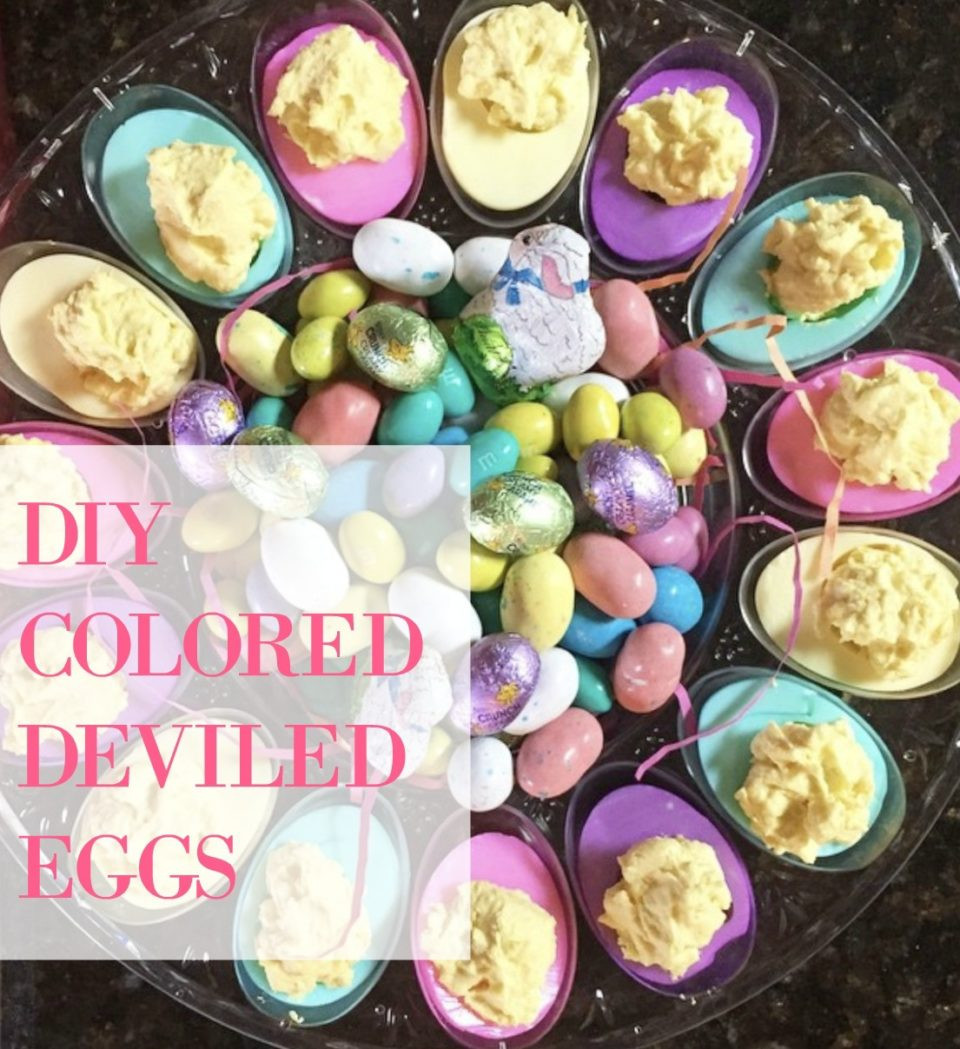 Colored Easter Deviled Eggs  Colored Deviled Eggs for Easter Grandma's Deviled Egg Recipe