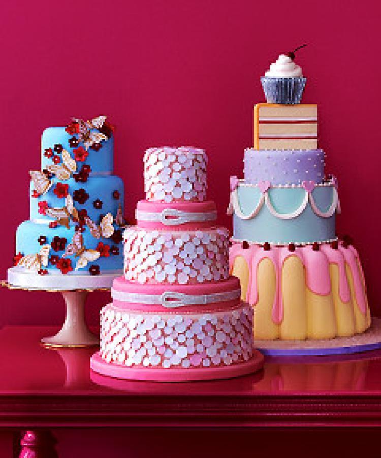 Confetti Wedding Cakes  New York bakers take the wedding cake NY Daily News
