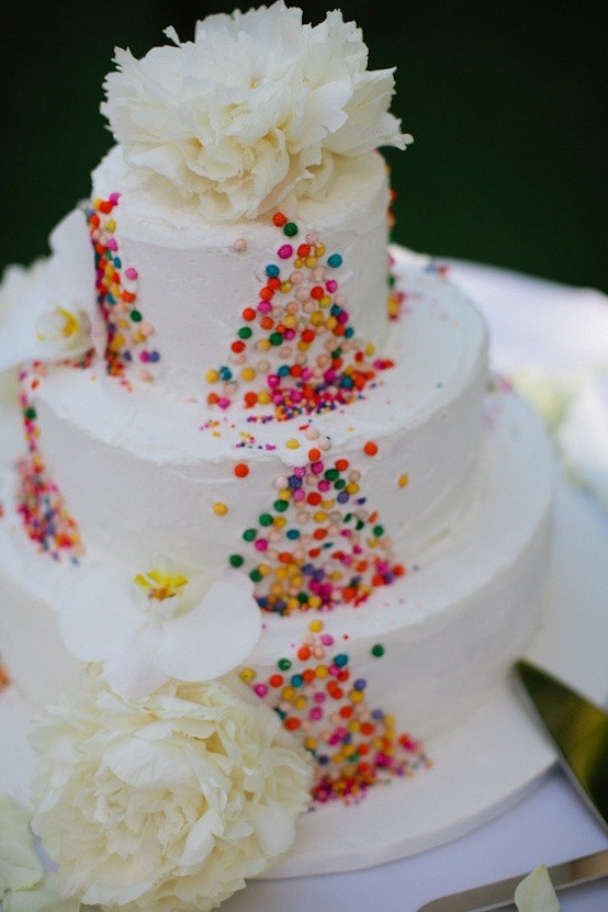 Confetti Wedding Cakes  Colorful confetti Cake by Ana Paz Cakes graphy