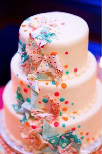 Confetti Wedding Cakes  confetti pinwheel wedding cake what fun wedding cakes