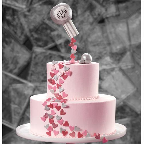 Confetti Wedding Cakes  Confetti Hearts of Love Wedding Cake