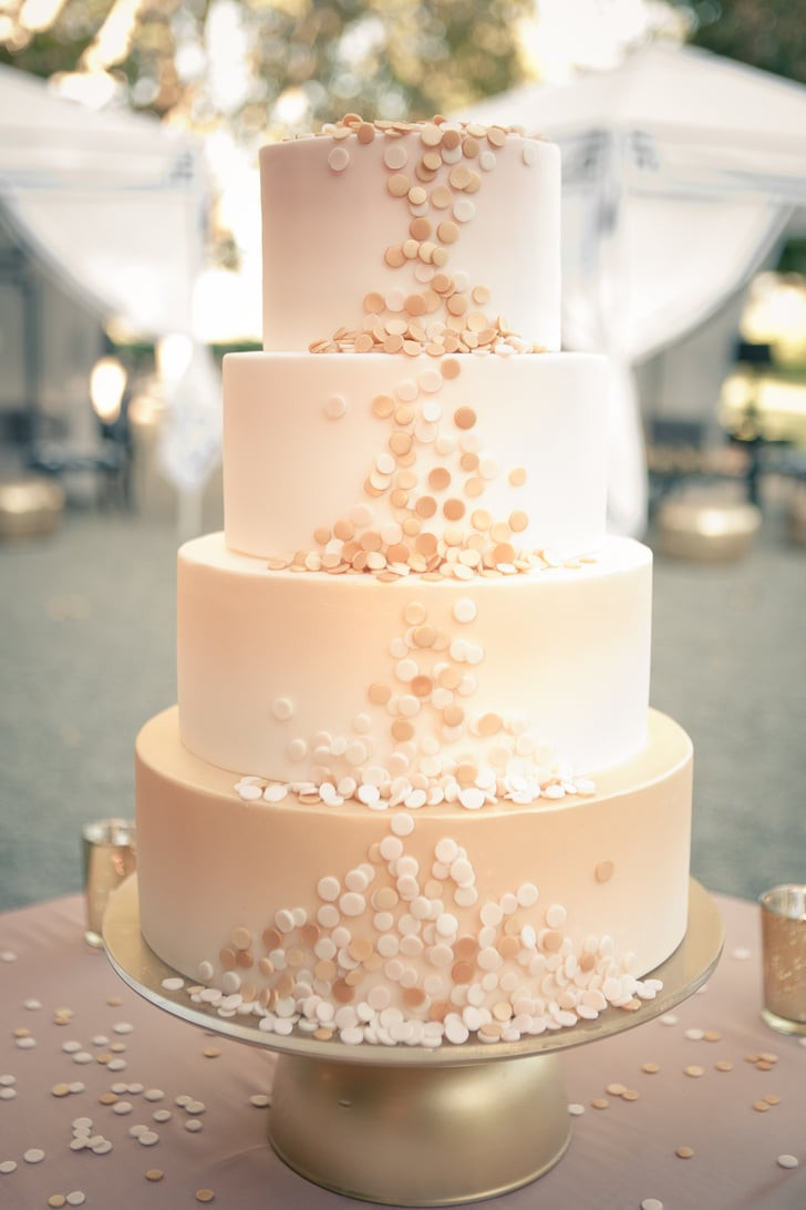 Confetti Wedding Cakes  Count this as the most elegant confetti we ve ever seen