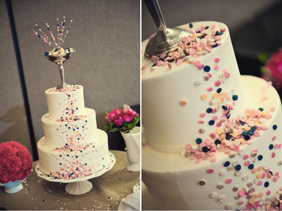 Confetti Wedding Cakes  Funfetti wedding cake yummy