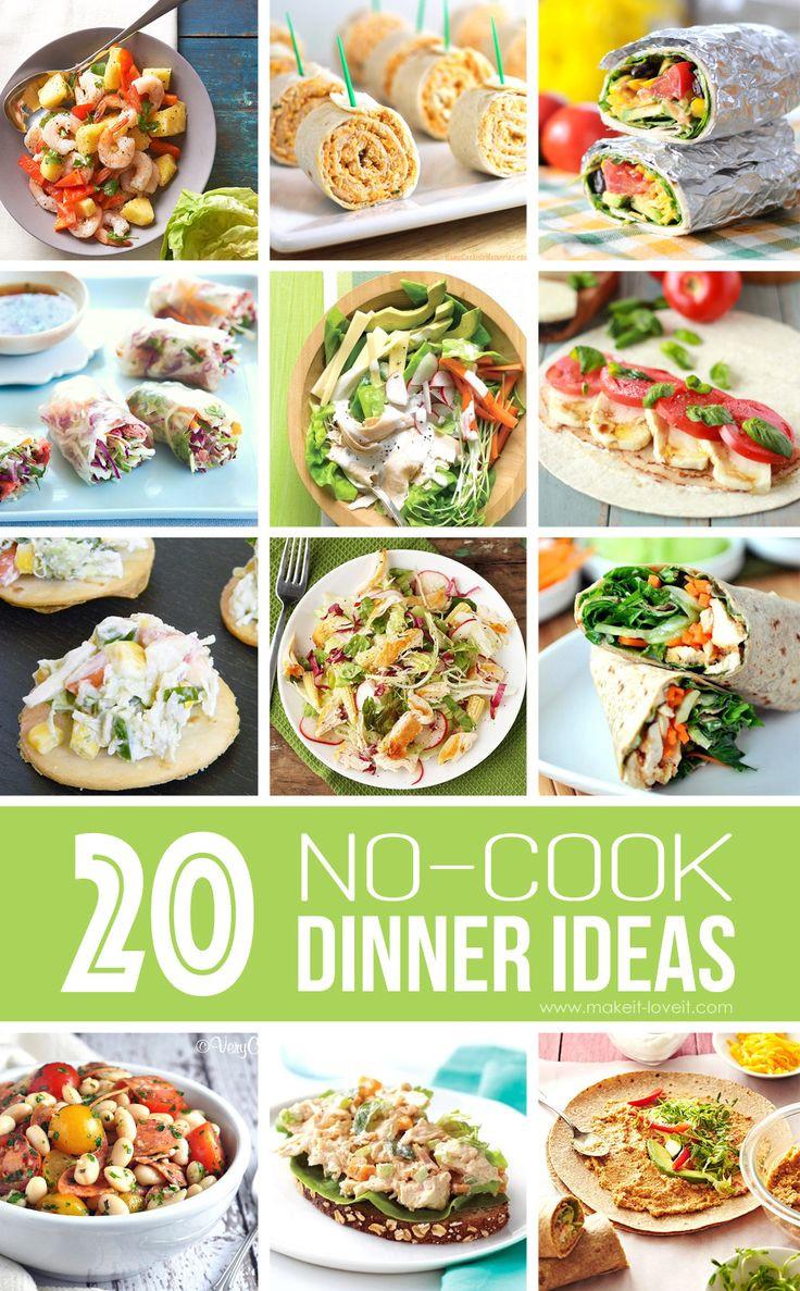 Cool Summer Dinners  Best 25 No cook meals ideas on Pinterest