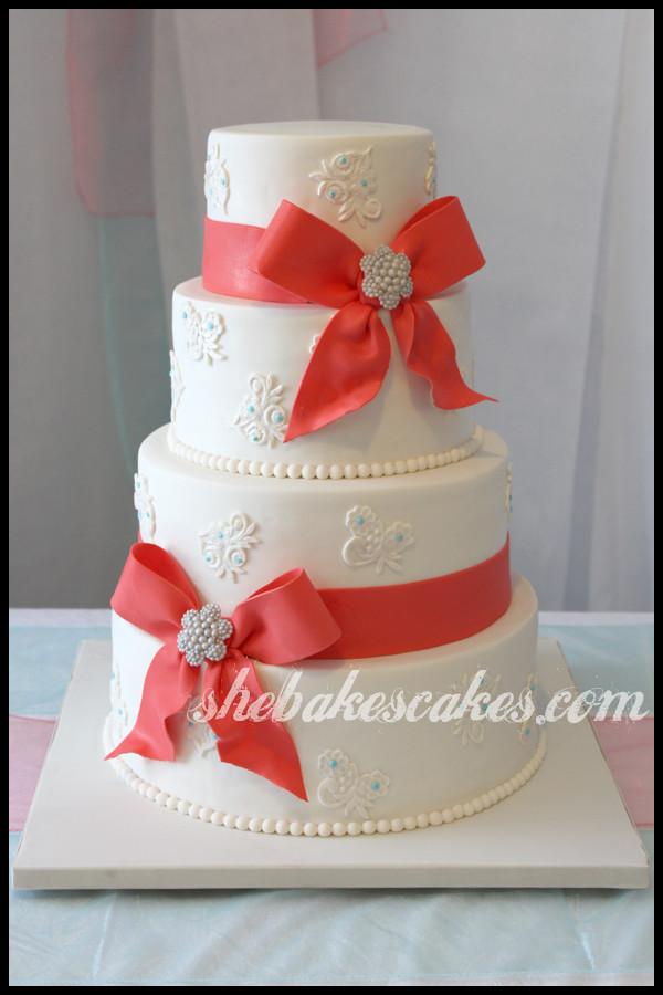 Coral And Teal Wedding Cakes  Weddingthemesrus Coral and Teal Wedding Theme