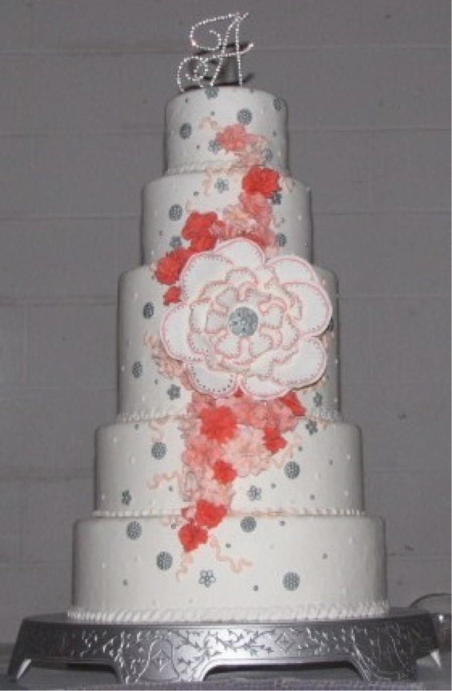 Coral Wedding Cakes  Coral Wedding Cake CakeCentral